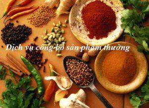 Thủ tục công bố thực phẩm thường tại Nghệ An