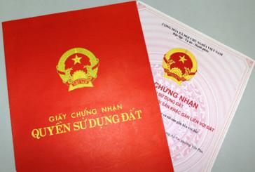 Thủ tục cấp mới giấy chứng nhận quyền sử dụng đất tại Nghệ An
