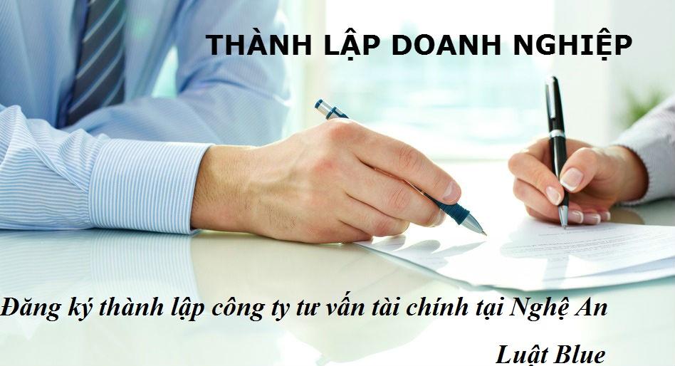 Đăng ký thành lập công ty tư vấn tài chính tại Nghệ An (nguồn internet)