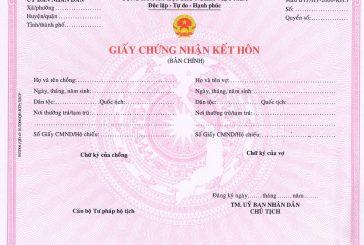 Quy định và thủ tục đăng ký kết hôn
